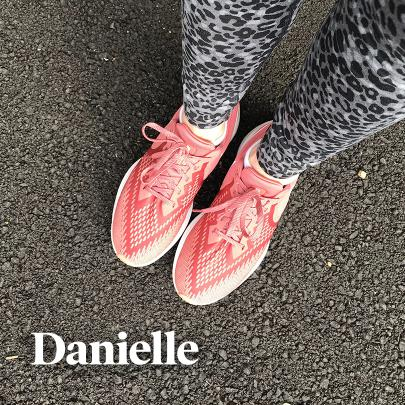 The top of Danielle's sneakers