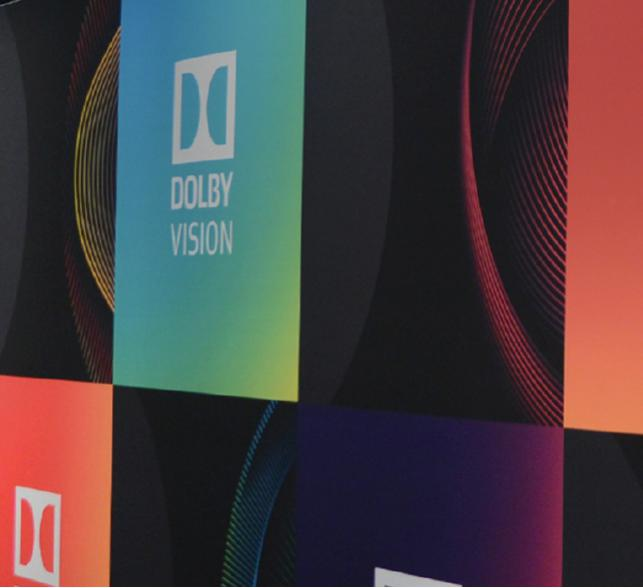 Dolby logo on video screens.